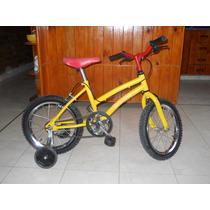 Bicicleta Niña Rodado 16 Con Rueditas