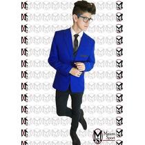 Saco Sport Entallado (ultima Moda) Color Azul