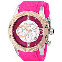 Mulco Mw5-2828-083 Reloj Rosa Analógico De Cuarzo Japonés Un