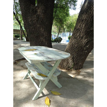Mesa Para Jardín Restaurada Shabby Chic