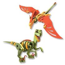 Dinosaurio Armable Juguete Para Niños Foamy Velociraptor