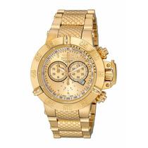 Relógio Invicta 14500 Subaqua Noma Iii Banhado Ouro Na Caixa