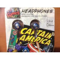 Audifonos Captain America Celular,mp3,smartphone,ipad,iphone