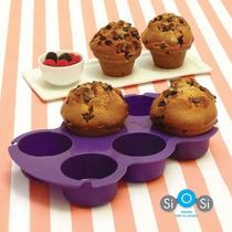 Molde Para Muffins Cupcake Silicona De Alta Resistencia