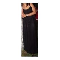 Vestido Negro De Fiesta -claudia Lareta-