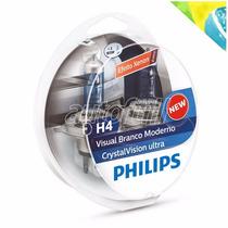 Lampadas Philips H4 Cristal Vision Efeito Xenon Extra