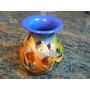 Jarron Ceramica Artesanal Decorativo De Mesa Pintado Remate