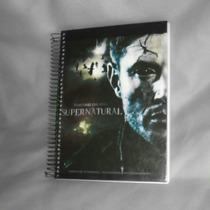 Caderno Supernatural - 10 Matérias - Com Adesivos