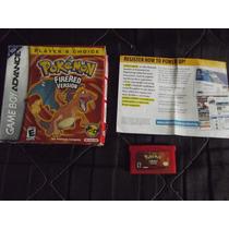 Pokémon Fire Red Version Original Na Caixa