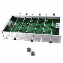 Mini Futbolito De Aluminio Escritorio Game Portátil Football