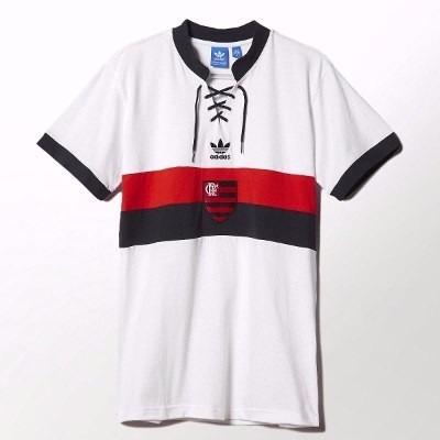 Camisa Retrô adidas Branca Flamengo 2014 Original - R  149 a67a2017ec10d