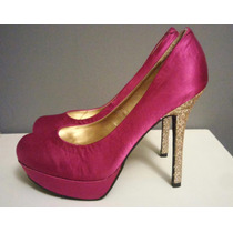 Zapatillas Pumps Hermosas 25 Mx Candies Rosas Glitter