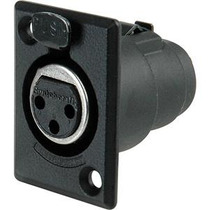 Switchcraft Conector Hembra 3 Pines Chasis Negro D3fbx