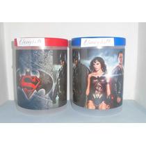 Potes Con Tapa Superman Vs Batman, Decendientes, Cotillones.