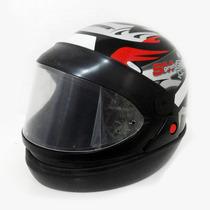 Capacete Moto Taurus San Marino Grafic Automático Preto 56