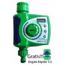 Temporizador Timer Controle Irrigação Agua Jardim Aspersor