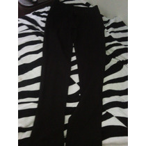 Pantalon De Vestir Negro Talla L Bota Tubo