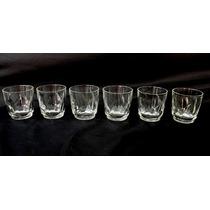 Conjunto Copos De Whisky Lapidados Em Cristal Nobre Original