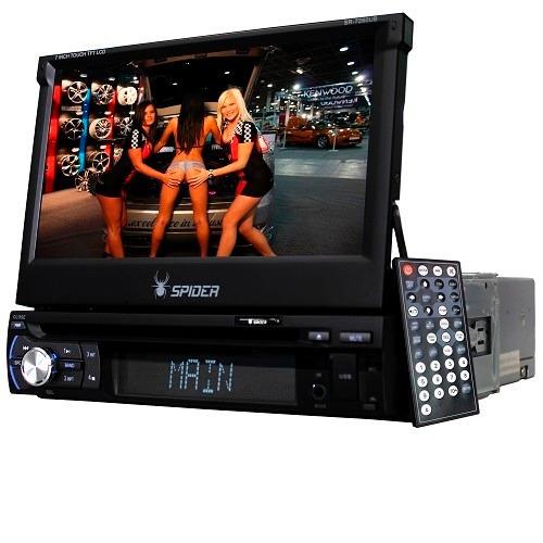 Autoestereo 1 Din Pantalla 7 Motorizado Dvd Bluetooth - $ 2,550.00 en Mercado Libre