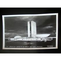 Brasília Cartão Postal Antigo Aspecto Praça 3 Poderes