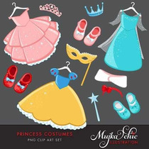 Kit Imprimible Princesas Disney 20 Imagenes Clipart