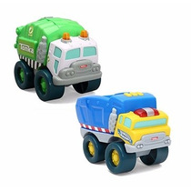 Tonka, Paquete De 2 Carritos Para Infantes (camión De Basura