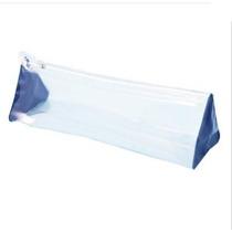 Necessaire Tranparente Azul Royal Plastico