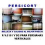 P.v.c Modelo D1 Y D2 Para Persianas Verticales