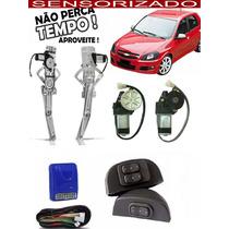 Kit Vidro Elétrico Celta 2 Portas 2002 A 2010 Sensorizado