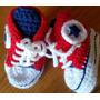 Championes En Crochet Para Bebé. Largo De Pie: 10,5 Cm