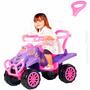 Carrinho Infantil Quadriciclo Cross Completo Pink Calesita