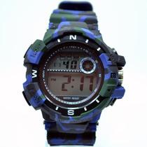 Relógio Masculino Militar Camuflado Esportivo Emborrachado
