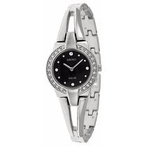 Reloj Seiko Solar Swarovski Crystal Acero Mujer Sup205