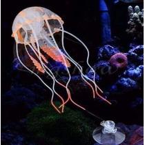 Adorno Para Acuario Medusas Luminiscentes Combo Kit X 4 Unid