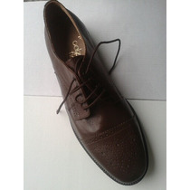 Oferta De Fabrica. Zapatos Vestir Cuero Marron Oxford!!