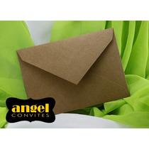 Envelope Bico 16x22 P/ Convites - 20 Peças - Kraft - Rústico