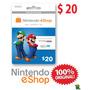 Eshop Nintendo / Wiiu Wii 3ds / Estados Unidos / 20 Dólares