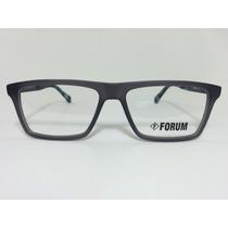 Armação Óculos Para Grau Forum Receituário Cinza Com Preto