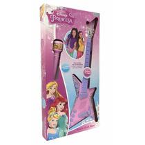 Microfono Con Pie Y Guitarra Disney Princesas Tuni 1780