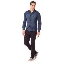 Calça Masculina Alfaiataria Skinny Com Elastano - Jeans Soci