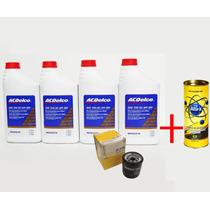 Kit Troca Oleo Acdelco 5w30 + Alfa X + Filtro Escort Zetec