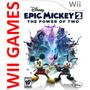 Epic Mickey 2 The Power Of Two, Nuevo Sellado - Nintendo Wii