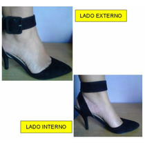 Zapatos Sandalias Femini 37 Poco Uso Gamusa Negro Fiesta