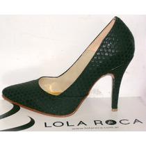 Zapatos Luis Xv Stilettos Lola Roca Cuero Vacuno Sandalias