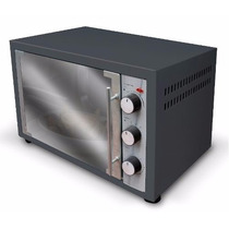 Horno Electrico Grill 48 Litros Negro Gris 2000w + Accesorio