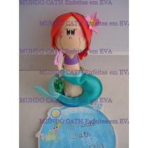 Boneca 3d Eva Ariel Pequena Sereia Princesa Festa Enfeite