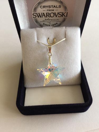 2df66e5ff79 Joyas Collar Swarovski Elements Estrella + Plata Día Madre! -   14.500 en  Mercado Libre