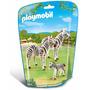 Retromex Playmobil 6641 Cebras Con Crias Zoologico Animal