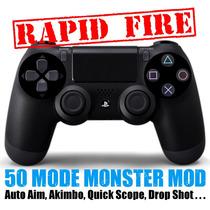 Controle Ps4 Original Com Mod Rapid Fire Único No Brasil