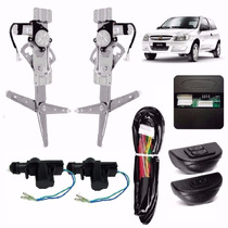 Kit Vidro Elétrico Celta 2 Portas+trava Elétrica Com Suporte